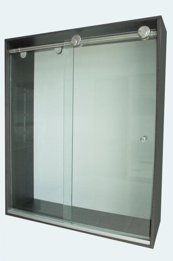 Division de Baño Corredizo Clasica, en vidrio de seguridad templado tipo corredera consta de dos hojas de vidrio cristal templado y un kit de instalación.