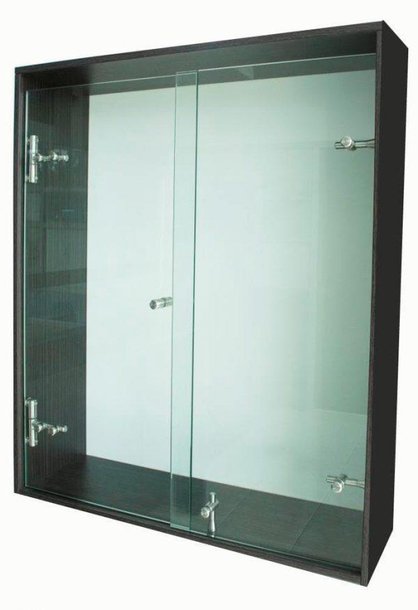Division de Baño Batiende Premium, la división para baño en vidrio de seguridad Templado tipo Panel fijo + Batiente bajo sistema lineal.