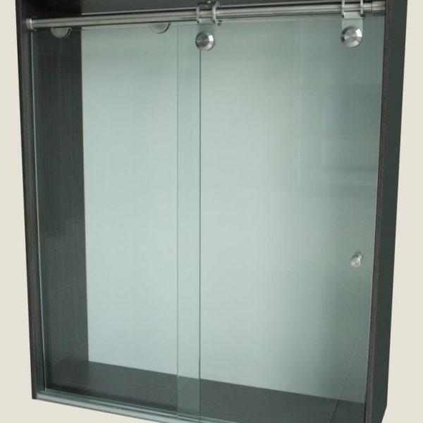 Division de Baño Corredizo Plus en vidrio de seguridad templado, fácil de instalar, diseño moderno, fácil de limpiar y mínimo mantenimiento.